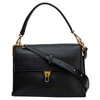 Черная сумка Coccinelle с двумя ремешками, фото
