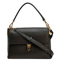 Женская сумка Coccinelle цвета хаки с двумя ремешками, фото