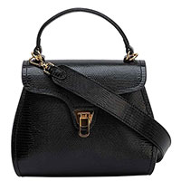 Черная сумка Coccinelle с тиснением, фото