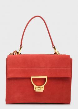 Замшевая сумка Coccinelle Arlettis на широком ремне, фото