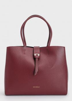 Бордовая сумка Coccinelle из зернистой кожи, фото