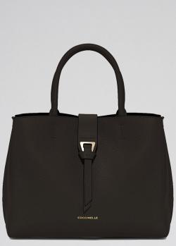 Черная сумка Coccinelle Alba со съемным ремнем, фото