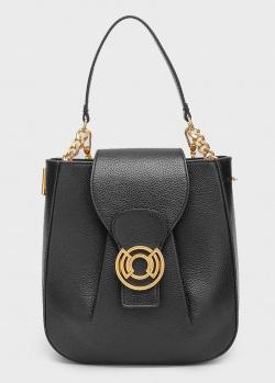 Черная сумка Coccinelle Cachet из зернистой кожи, фото