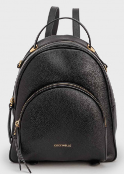 Женский рюкзак Coccinelle Lea из черной кожи, фото