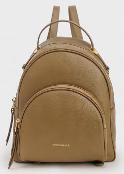 Рюкзак Coccinelle Lea из кожи цвета хаки, фото