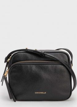 Черная сумка Coccinelle Lea на тонком ремешке, фото