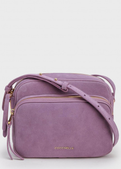 Замшевая сумка Coccinelle Lea фиолетового цвета, фото