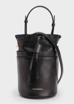 Черная сумка Coccinelle Jude с бахромой, фото