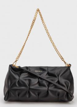 Черная сумка Coccinelle с цепочкой и ремешком, фото