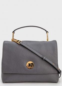 Серая сумка Coccinelle на тонком ремешке, фото