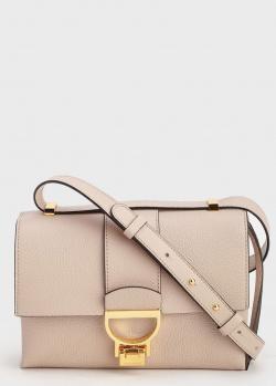 Бежевая сумка Coccinelle с золотой фурнитурой, фото