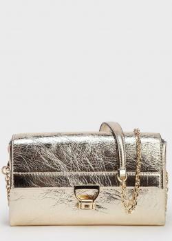 Золотистая сумка Coccinelle Arlettis с цепочкой, фото