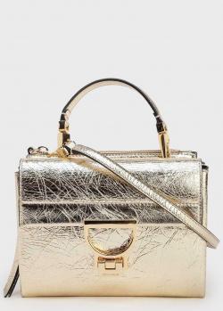 Сумка-портфель Coccinelle Arlettis из золотистой кожи, фото