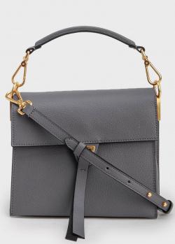 Женская серая сумка-портфель Coccinelle Louise, фото