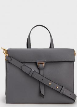 Темно-серая сумка-портфель Coccinelle Louise, фото