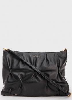 Черная жатая сумка Coccinelle Best Crossbody Goodie, фото