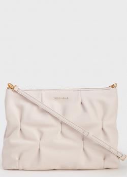 Прямоугольная сумка Coccinelle Best Crossbody Goodie из бежевой жатой кожи, фото