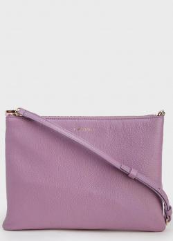 Светло-фиолетовая сумка Coccinelle на тонком ремешке, фото