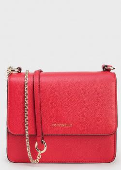 Красная сумка Coccinelle Anne на золотистой цепочке, фото