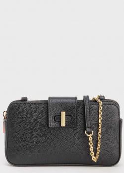 Женская черная сумка Coccinelle Fedra на цепочке, фото