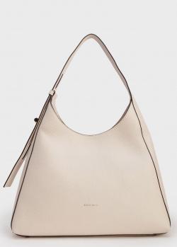 Бежевая сумка-хобо Coccinelle Fedra, фото