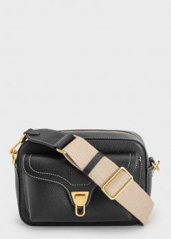 Черная сумка Coccinelle на широком ремне, фото
