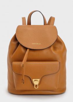 Рюкзак из кожи Coccinelle Beat с накладным карманом, фото