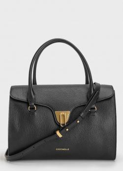 Черная сумка Coccinelle Beat из зернистой кожи, фото