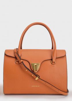 Сумка-портфель Coccinelle Beat коньячного цвета, фото