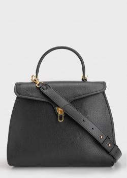 Черная сумка Coccinelle Marvin с фигурным клапаном, фото