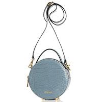 Круглая сумка Piumelli Dubai с тиснением кроко, фото
