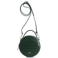 Темно-зеленая круглая сумка Piumelli Dubai на ножках, фото