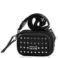 Черная сумка Versace Jeans Couture с заклепками, фото