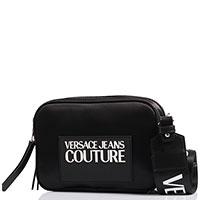 Сумка Versace Jeans Couture черного цвета с логотипом, фото