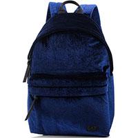 Рюкзак Ea7 Emporio Armani синего цвета из велюра, фото