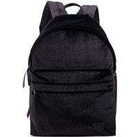 Черный рюкзак Ea7 Emporio Armani из велюра, фото