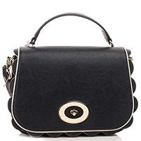 Черная сумка Elisabetta Franchi с краями-фестонами, фото