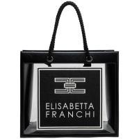 Черная сумка Elisabetta Franchi с прозрачными вставками, фото
