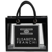 Прозрачная сумка-шоппер Elisabetta Franchi с логотипом, фото