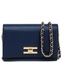 Синяя сумка Elisabetta Franchi на цепочке, фото