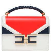 Сумка-портфель Elisabetta Franchi с краснывми и синими вставками, фото