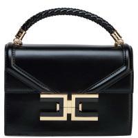 Сумка-портфель Elisabetta Franchi черного цвета, фото