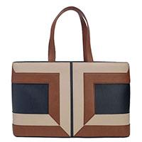Трехцветная сумка Elisabetta Franchi с большим логотипом, фото