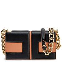 Коричневая сумка Elisabetta Franchi на цепочке, фото