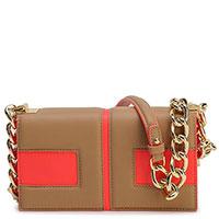 Женская сумка Elisabetta Franchi с логотипом на цепочке, фото