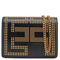 Черная сумка Elisabetta Franchi на цепочке, фото