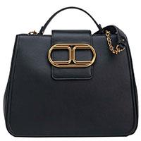 Черная сумка Elisabetta Franchi с золотистой фурнитурой, фото
