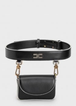 Поясная сумка Elisabetta Franchi с золотой фурнитурой, фото