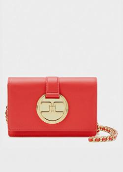 Красная сумка кросс-боди Elisabetta Franchi на цепочке, фото