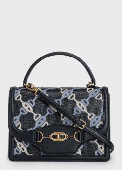Черная сумка Elisabetta Franchi с ярким принтом, фото
